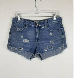 Free People Distressed Shorts Sz 27
